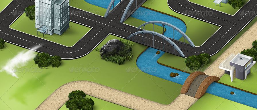 Map Icons and Elements - River and Road Kit.JPG