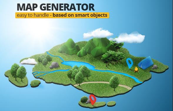 Photoshop Map Generator